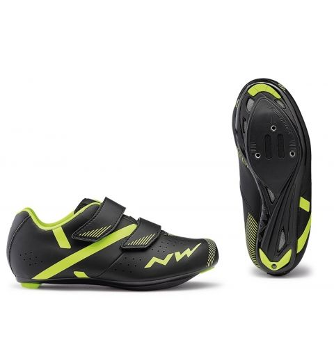 Zapatilla NW Torpedo 2 Junior Road Negro/Amarillo Fluor