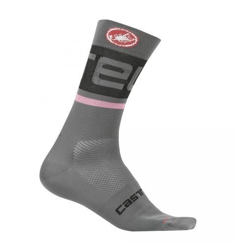 Calcetines Castelli Free Kit 13 Gris Oscuro/Rosa