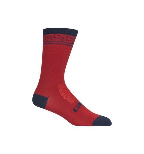 Calcetines Giro Racer High Rise Red Lines