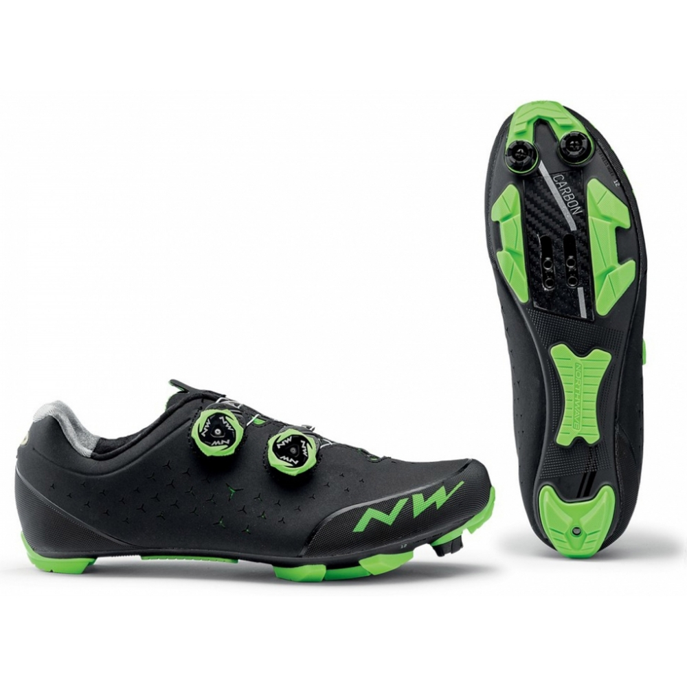 Zapatillas Northwave Rebel 2 Negro/Verde MTB